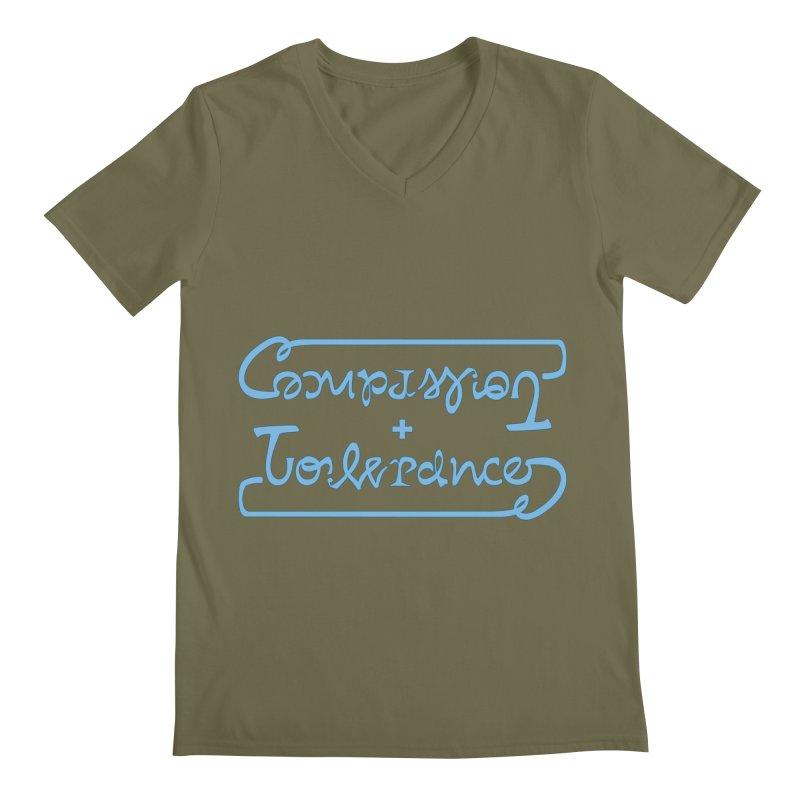 Compassion + Tolerance Men's V-Neck by Ambivalentine's Shop