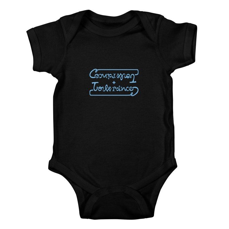 Compassion + Tolerance Kids Baby Bodysuit by Ambivalentine's Shop
