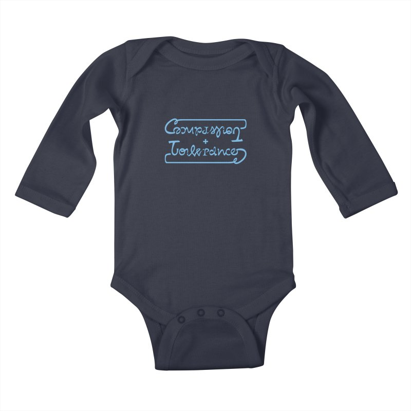 Compassion + Tolerance Kids Baby Longsleeve Bodysuit by Ambivalentine's Shop