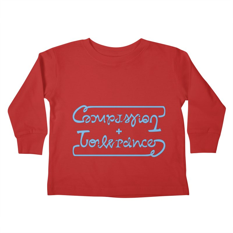Compassion + Tolerance Kids Toddler Longsleeve T-Shirt by Ambivalentine's Shop