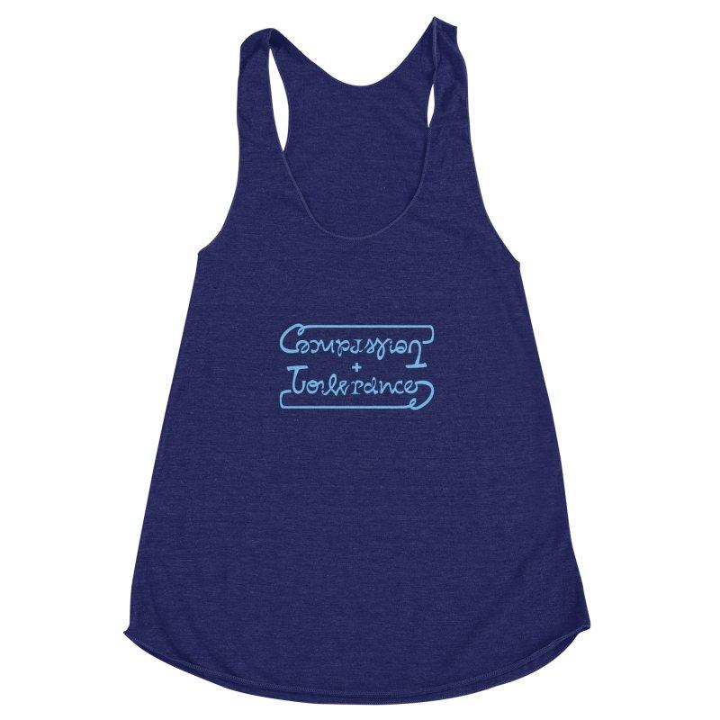 Compassion + Tolerance Women's Racerback Triblend Tank by Ambivalentine's Shop