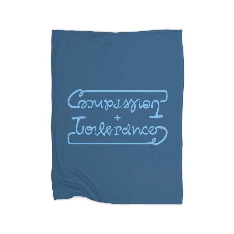 Compassion + Tolerance Home Blanket by Ambivalentine's Shop