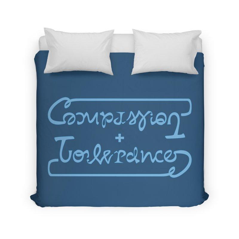 Compassion + Tolerance Home Duvet by Ambivalentine's Shop