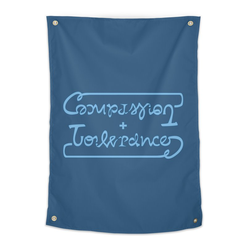 Compassion + Tolerance Home Tapestry by Ambivalentine's Shop