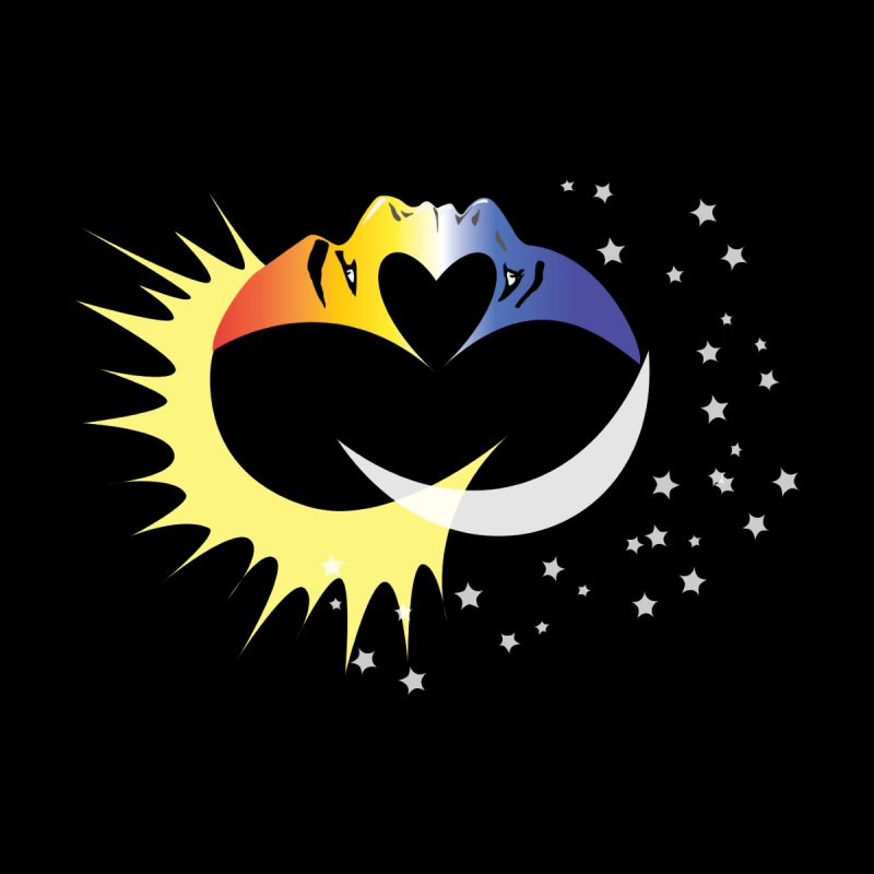 Sun Moon Love People Kids T-Shirt by Ambivalentine's Shop