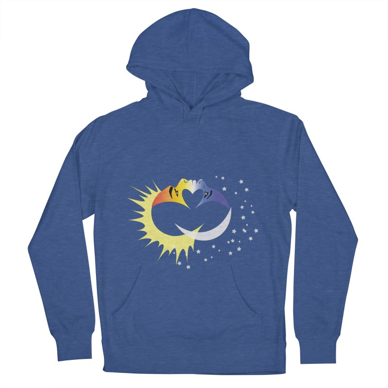 Sun Moon Love People Men's Pullover Hoody by Ambivalentine's Shop