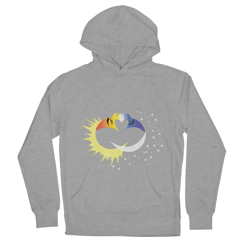 Sun Moon Love People Men's French Terry Pullover Hoody by Ambivalentine's Shop