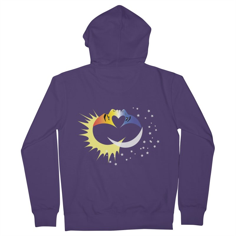 Sun Moon Love People Women's Zip-Up Hoody by Ambivalentine's Shop