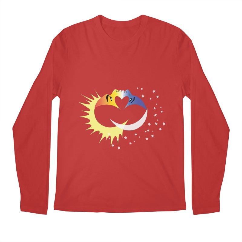 Sun Moon Love People Men's Regular Longsleeve T-Shirt by Ambivalentine's Shop