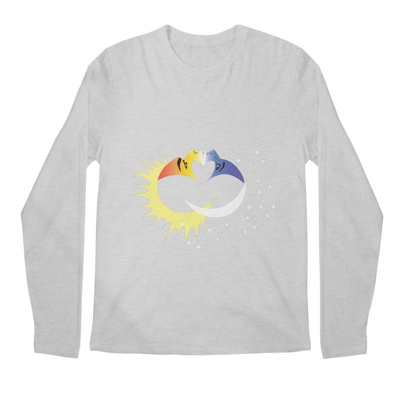 Sun Moon Love People Men's Longsleeve T-Shirt by Ambivalentine's Shop