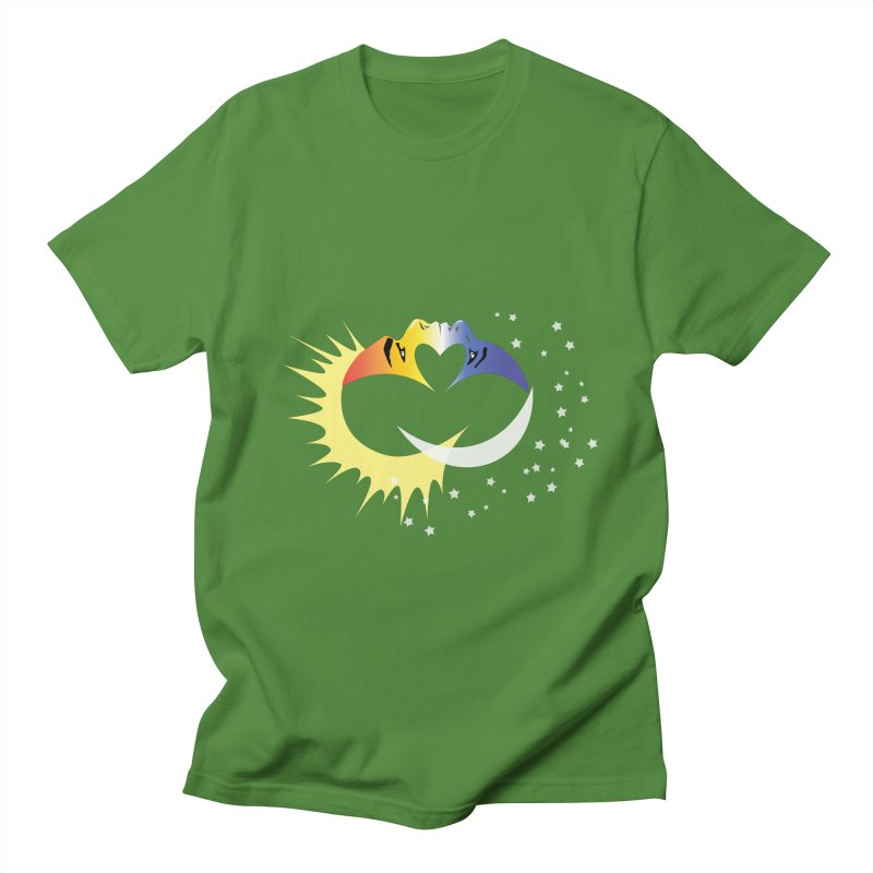 Sun Moon Love People Men's T-Shirt by Ambivalentine's Shop