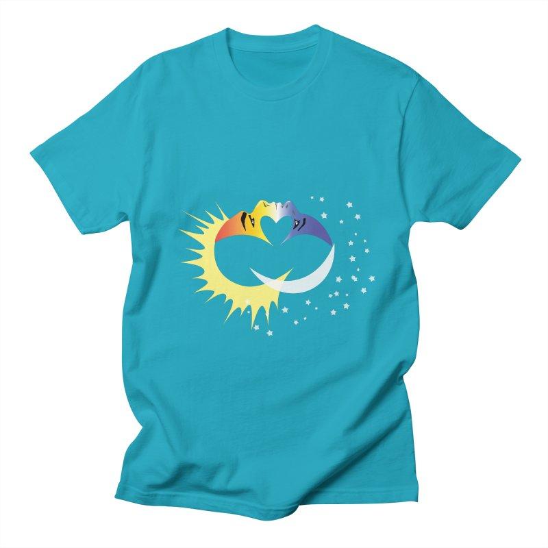 Sun Moon Love People Men's Regular T-Shirt by Ambivalentine's Shop