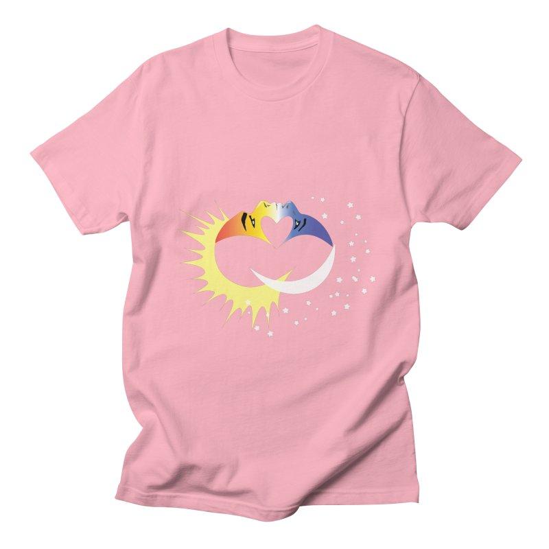 Sun Moon Love People Men's T-shirt by Ambivalentine's Shop