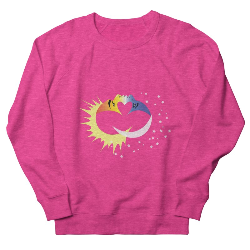 Sun Moon Love People Women's French Terry Sweatshirt by Ambivalentine's Shop
