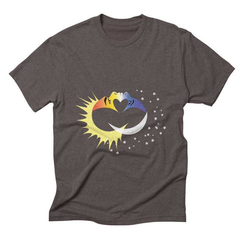 Sun Moon Love People Men's Triblend T-Shirt by Ambivalentine's Shop