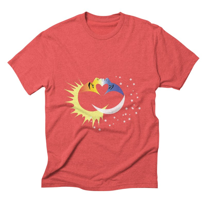 Sun Moon Love People Men's Triblend T-Shirt by Ambivalentine's Shop