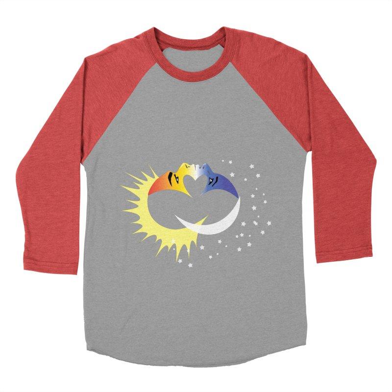 Sun Moon Love People Women's Baseball Triblend T-Shirt by Ambivalentine's Shop