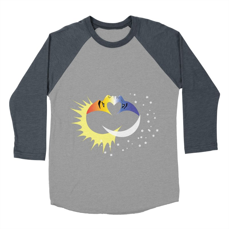 Sun Moon Love People Women's Baseball Triblend Longsleeve T-Shirt by Ambivalentine's Shop