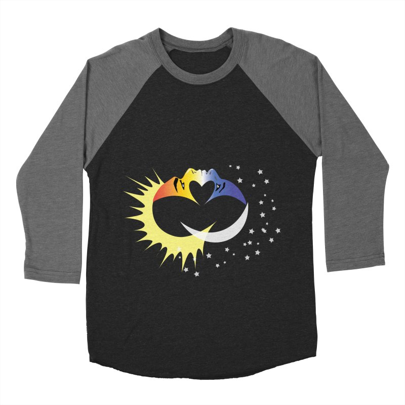 Sun Moon Love People Men's Baseball Triblend Longsleeve T-Shirt by Ambivalentine's Shop