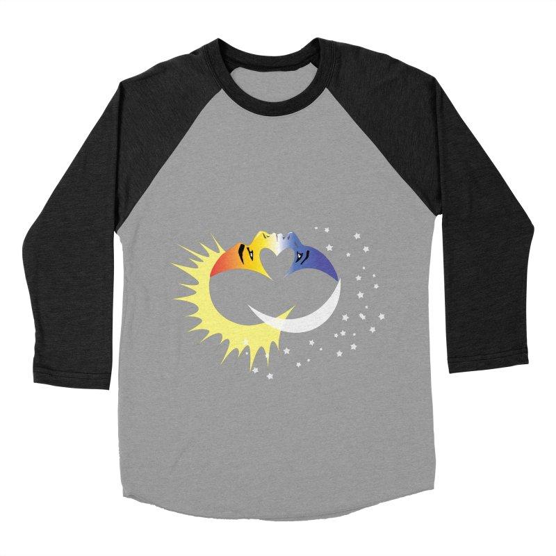 Sun Moon Love People Men's Baseball Triblend T-Shirt by Ambivalentine's Shop