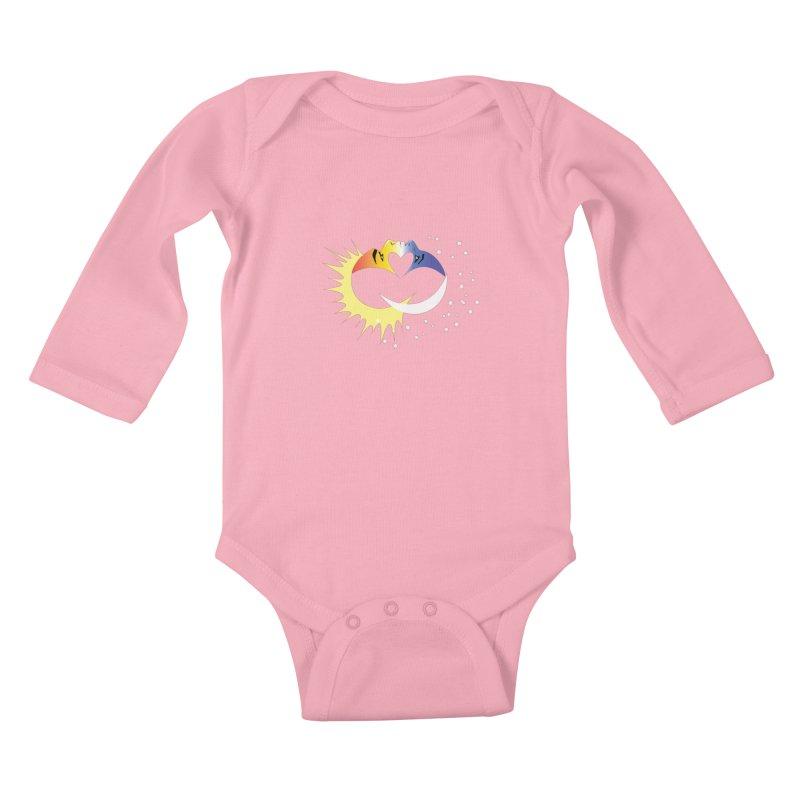 Sun Moon Love People Kids Baby Longsleeve Bodysuit by Ambivalentine's Shop