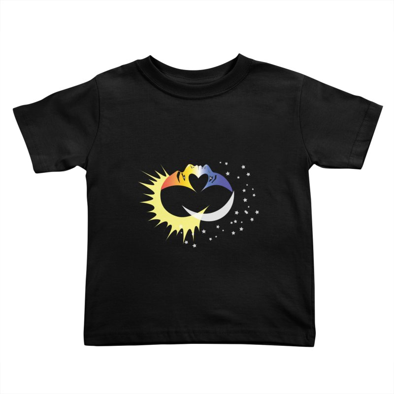 Sun Moon Love People Kids Toddler T-Shirt by Ambivalentine's Shop