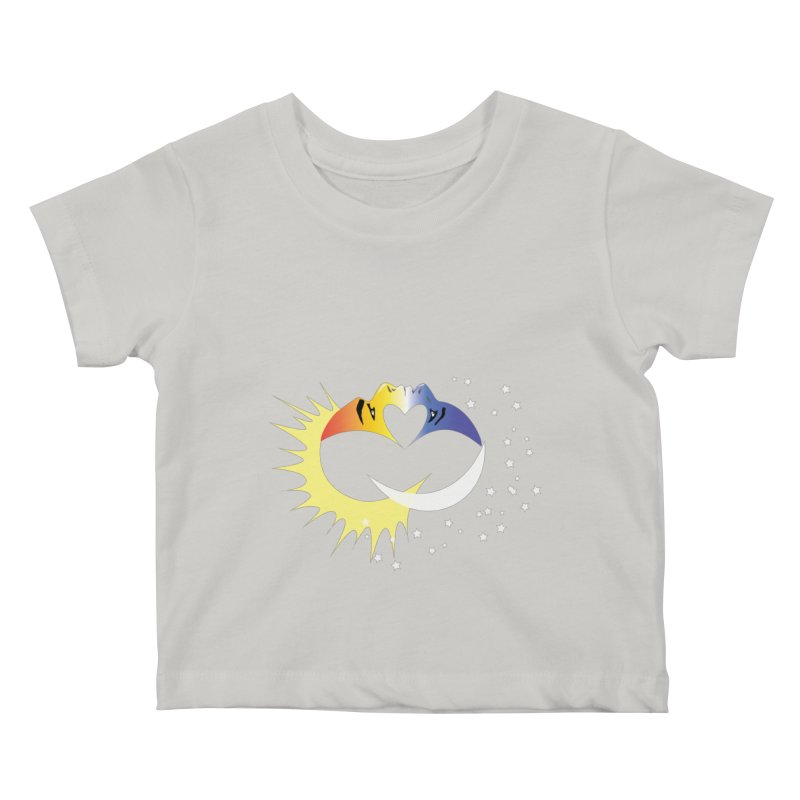 Sun Moon Love People Kids Baby T-Shirt by Ambivalentine's Shop