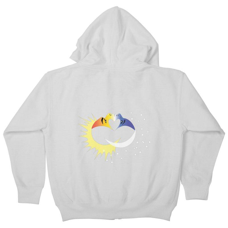 Sun Moon Love People Kids Zip-Up Hoody by Ambivalentine's Shop