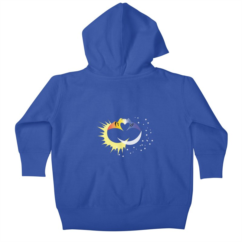 Sun Moon Love People Kids Baby Zip-Up Hoody by Ambivalentine's Shop