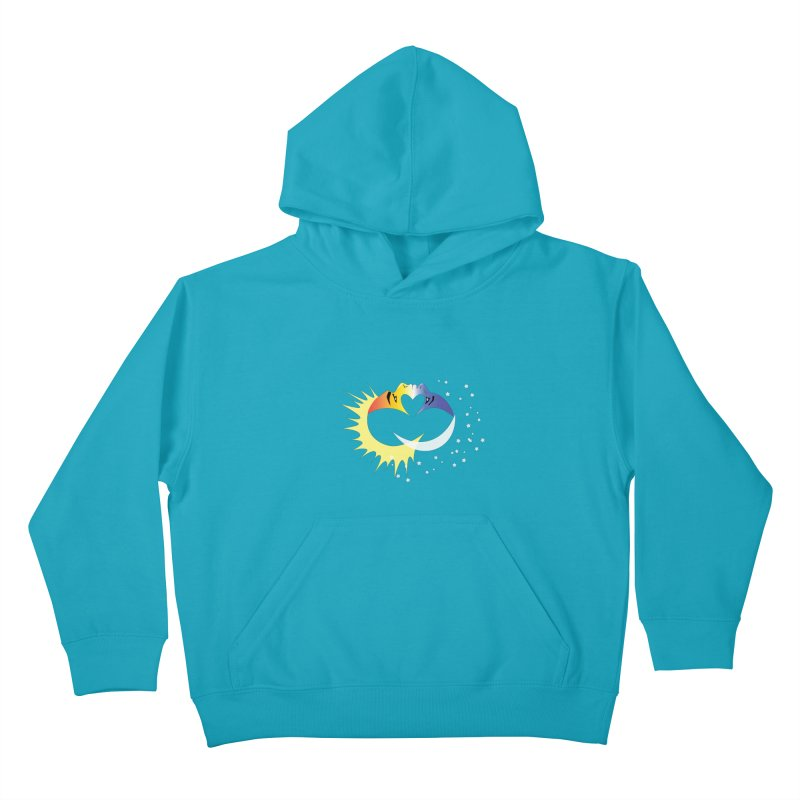 Sun Moon Love People Kids Pullover Hoody by Ambivalentine's Shop