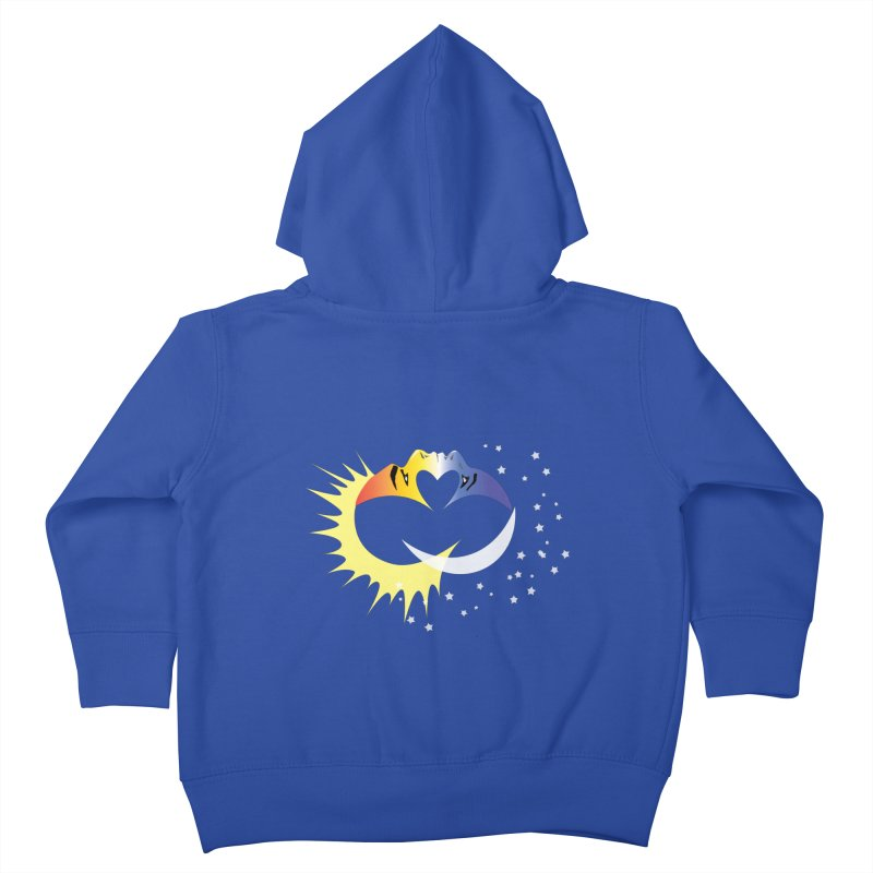 Sun Moon Love People Kids Toddler Zip-Up Hoody by Ambivalentine's Shop