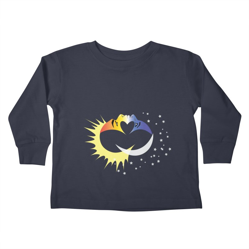 Sun Moon Love People Kids Toddler Longsleeve T-Shirt by Ambivalentine's Shop
