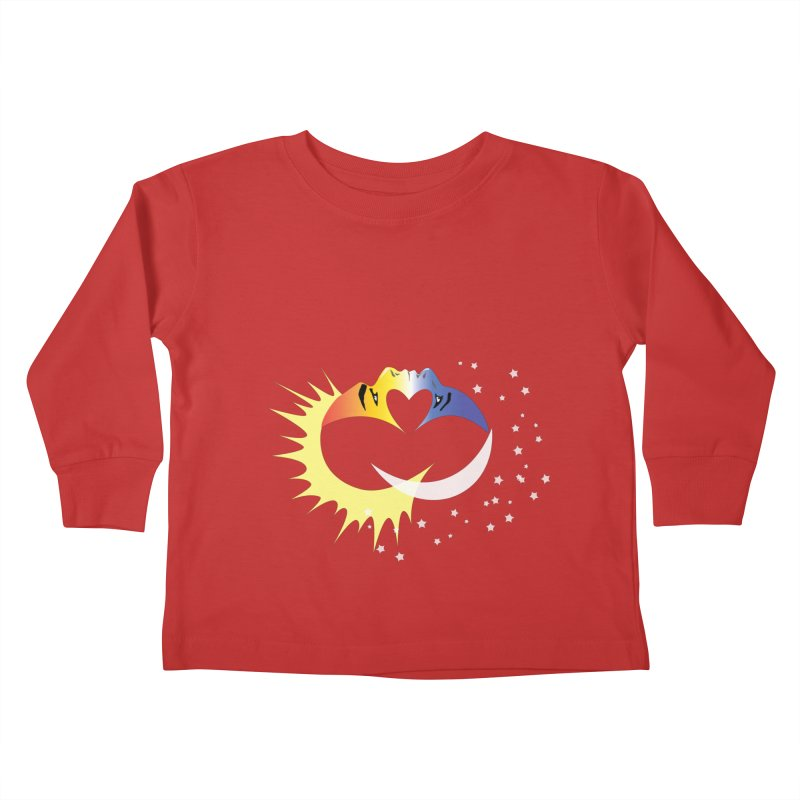 Sun Moon Love People Kids Toddler Longsleeve T-Shirt by Ambivalentine's Shop