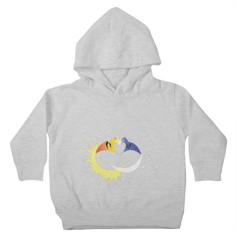 Sun Moon Love People Kids Toddler Pullover Hoody by Ambivalentine's Shop