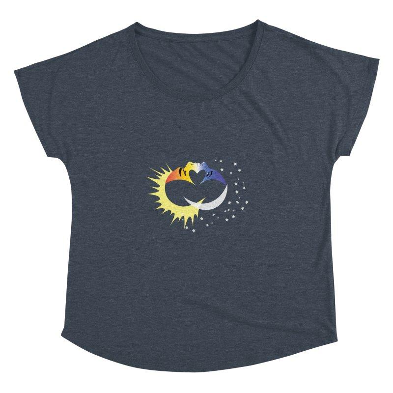 Sun Moon Love People Women's Dolman Scoop Neck by Ambivalentine's Shop