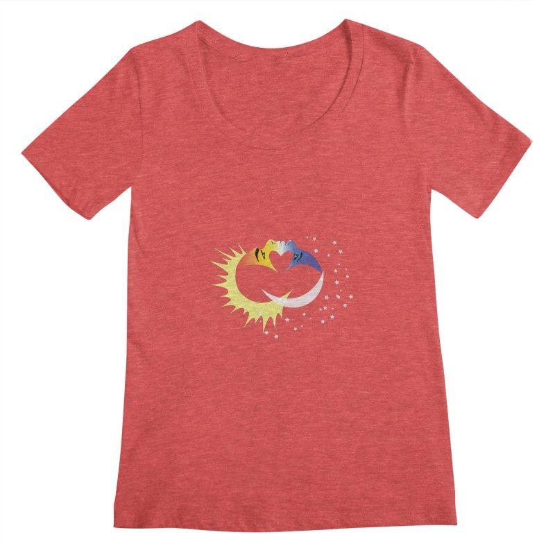 Sun Moon Love People Women's Scoopneck by Ambivalentine's Shop