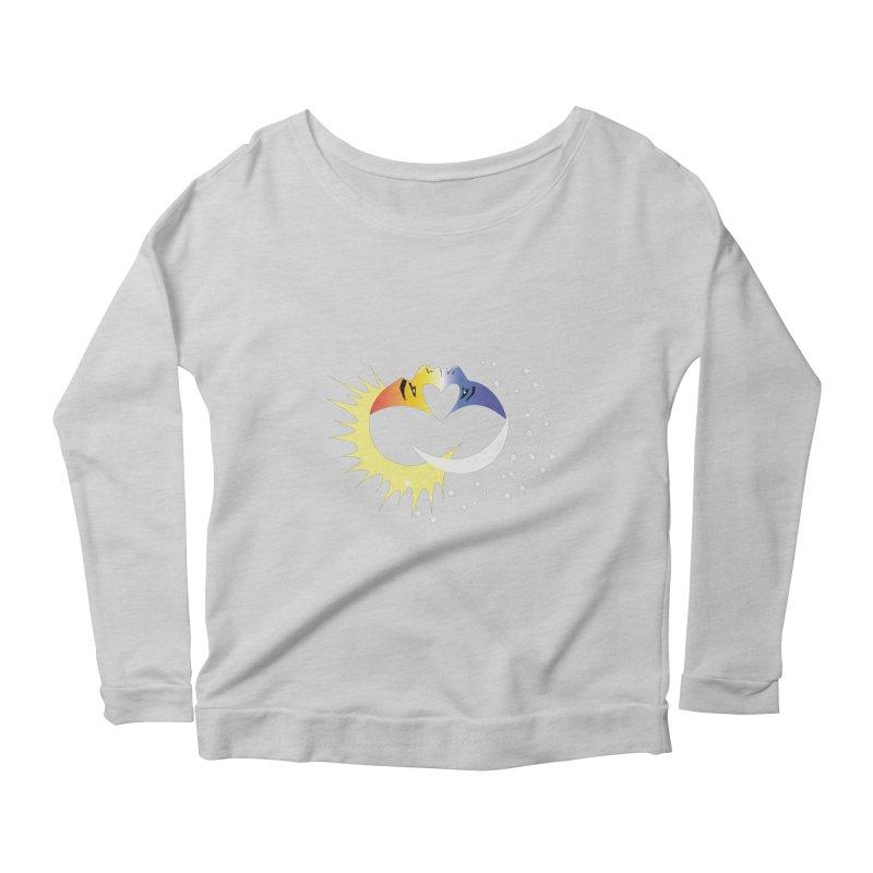 Sun Moon Love People Women's Scoop Neck Longsleeve T-Shirt by Ambivalentine's Shop