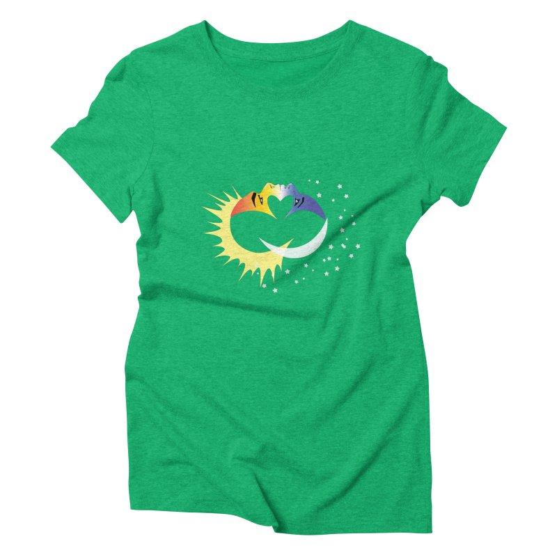 Sun Moon Love People Women's Triblend T-Shirt by Ambivalentine's Shop