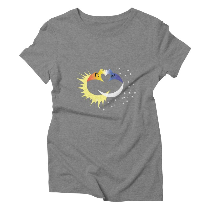 Sun Moon Love People Women's Triblend T-Shirt by Ambivalentine's Shop