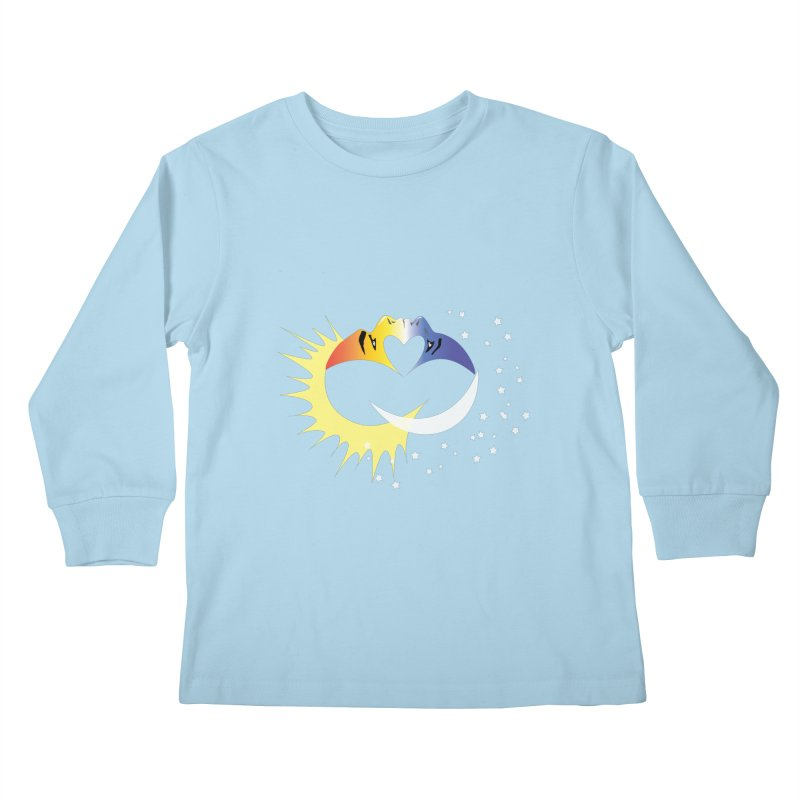 Sun Moon Love People Kids Longsleeve T-Shirt by Ambivalentine's Shop