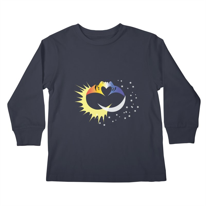 Sun Moon Love People Kids Longsleeve T-Shirt by Ambivalentine's Shop