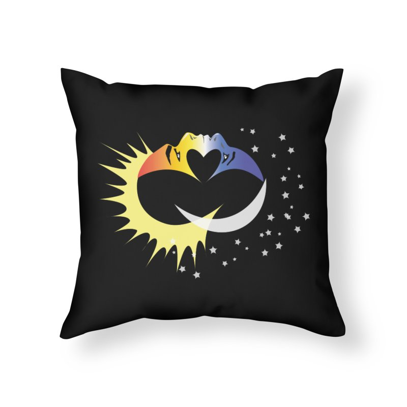 Sun Moon Love People Home Throw Pillow by Ambivalentine's Shop