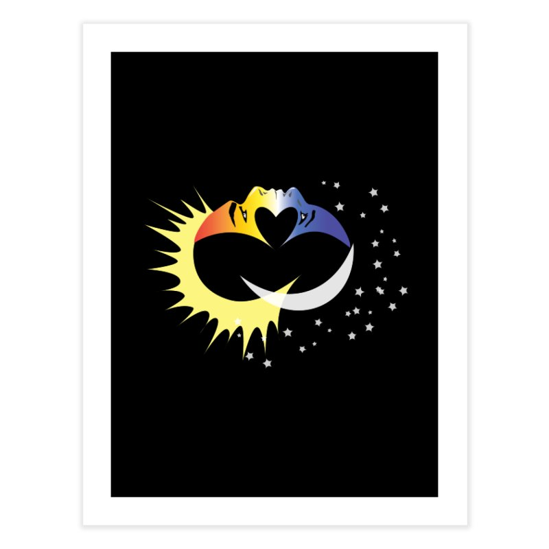 Sun Moon Love People Home Fine Art Print by Ambivalentine's Shop