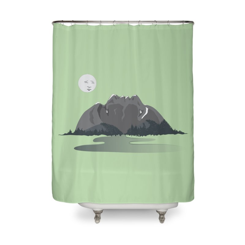 Mountain Faces Home Shower Curtain by Ambivalentine's Shop