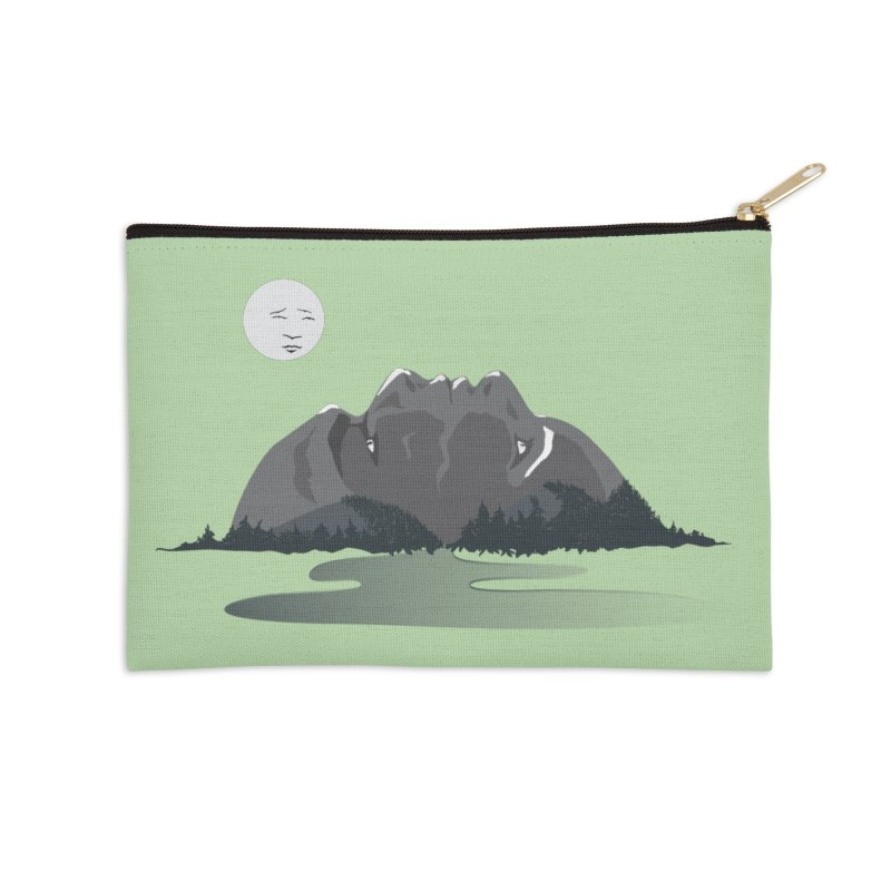 Mountain Faces Accessories Zip Pouch by Ambivalentine's Shop