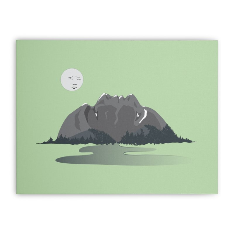 Mountain Faces Home Stretched Canvas by Ambivalentine's Shop
