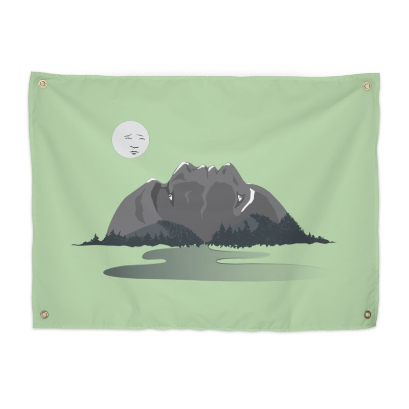 Mountain Faces Home Tapestry by Ambivalentine's Shop