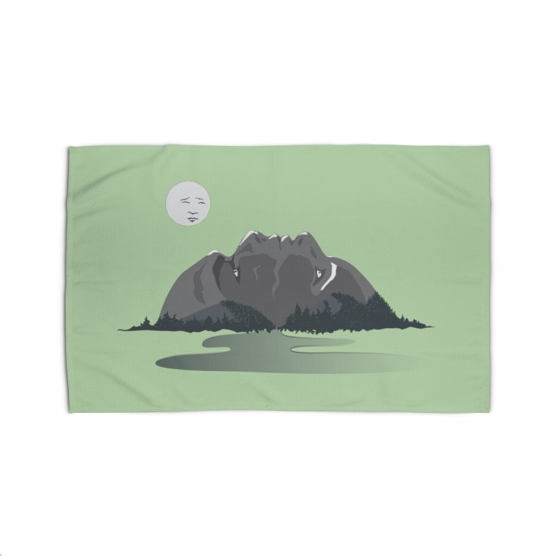 Mountain Faces Home Rug by Ambivalentine's Shop