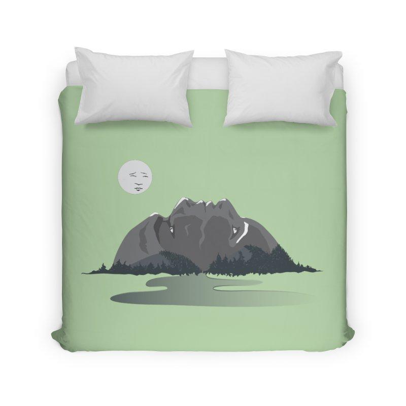 Mountain Faces Home Duvet by Ambivalentine's Shop