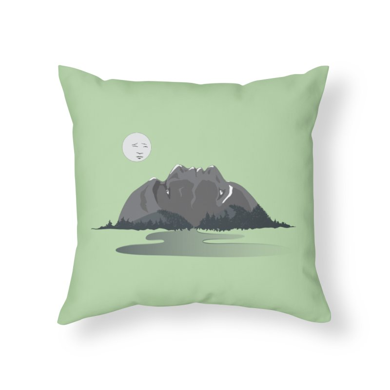 Mountain Faces Home Throw Pillow by Ambivalentine's Shop